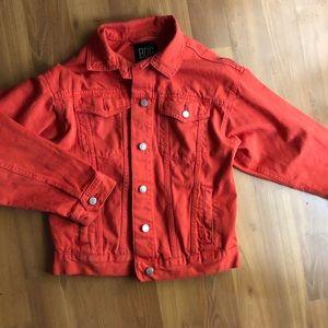 Oversized Orange Jean Jacket